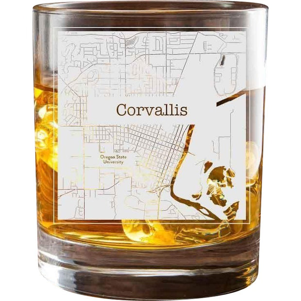 Corvallis College Town Glasses (Set of 2) 1
