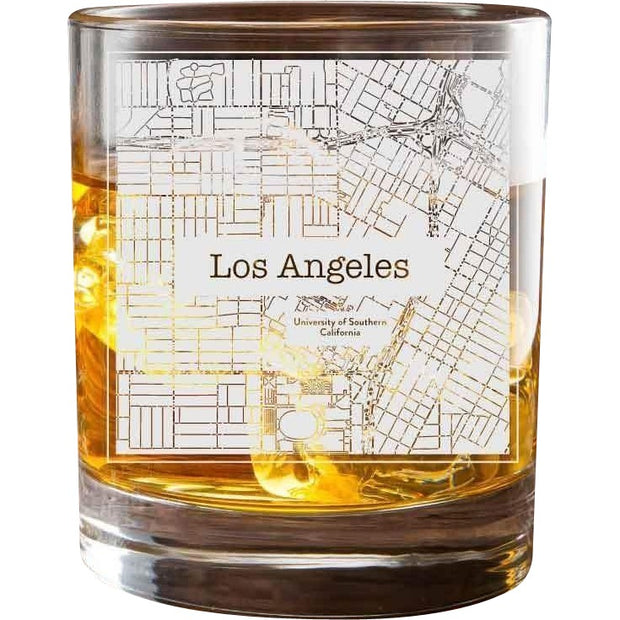 Los Angeles USC College Town Glasses (Set of 2) 1