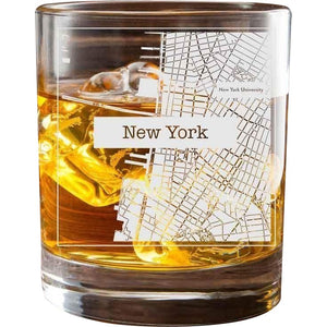 New York College Town Glasses (Set of 2)