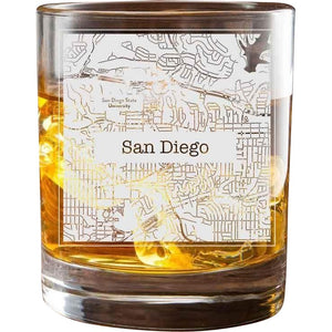 San Diego College Town Glasses (Set of 2)