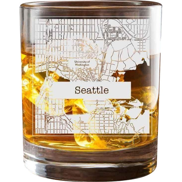 Seattle College Town Glasses (Set of 2) 1