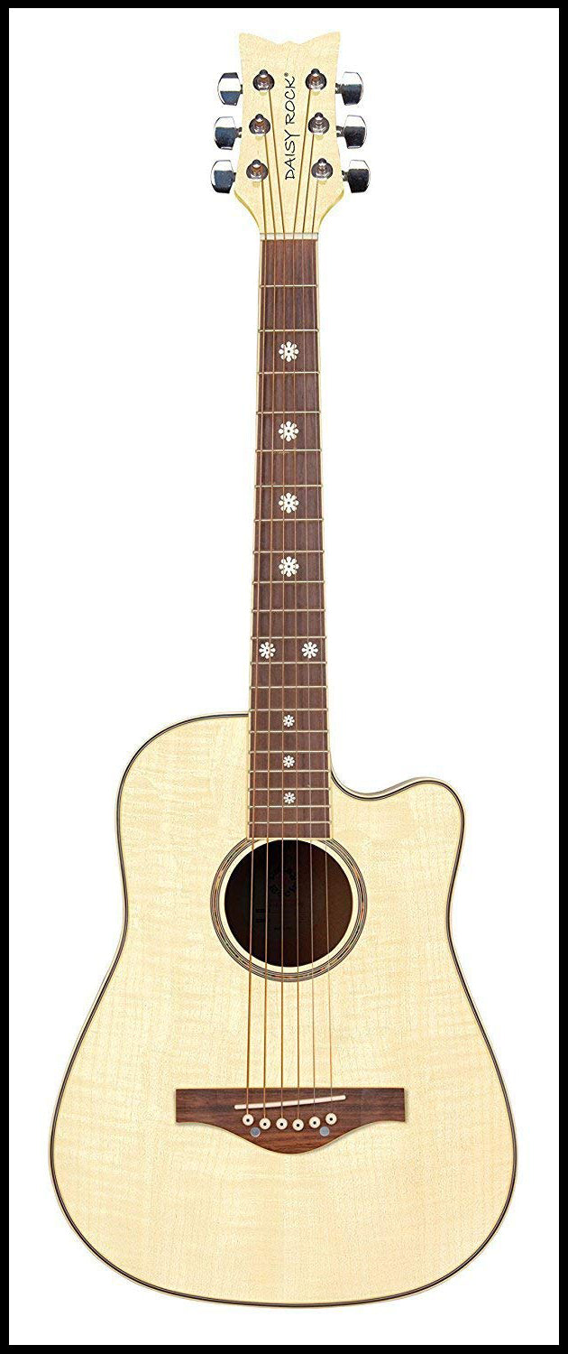 Daisy Rock 6 String Acoustic Guitar, Bleach Blonde