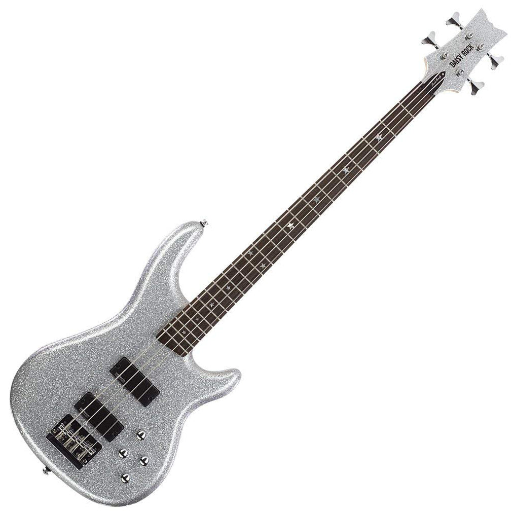 Daisy Rock Candy Bass Guitar, Diamond Sparkle