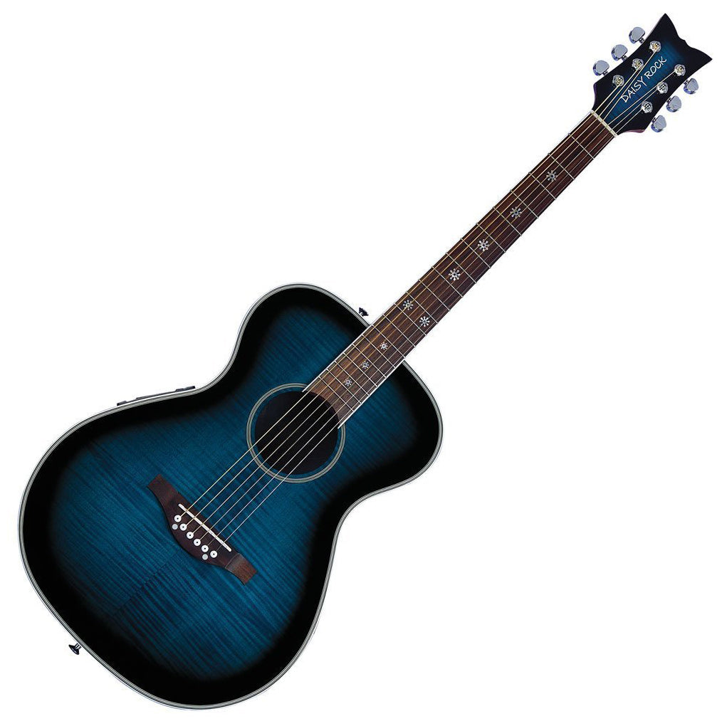 Daisy Rock Pixie Acoustic-Electric Guitar, Blueberry Burst