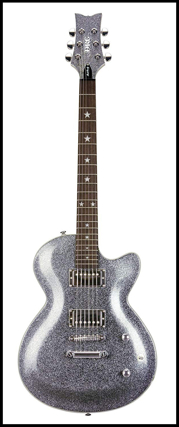 Daisy Rock Rock Candy Classic Electric Guitar, Platinum Sparkle
