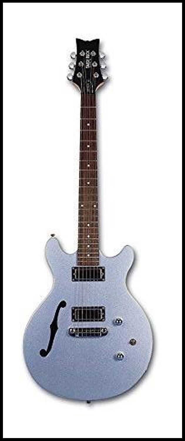 Daisy Rock 6 String Stardust Retro-H, Ice Blue Sparkle