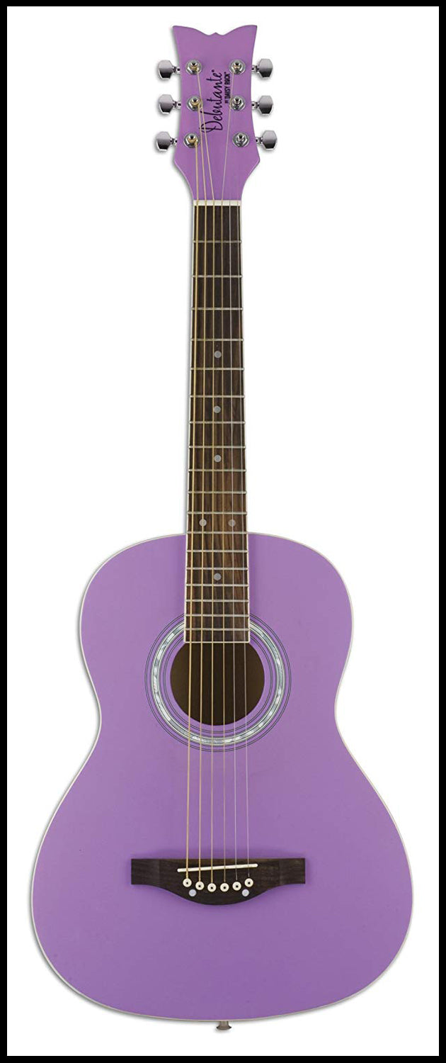 Daisy Rock Debutante Jr. Miss Acoustic, Popsicle Purple Guitar