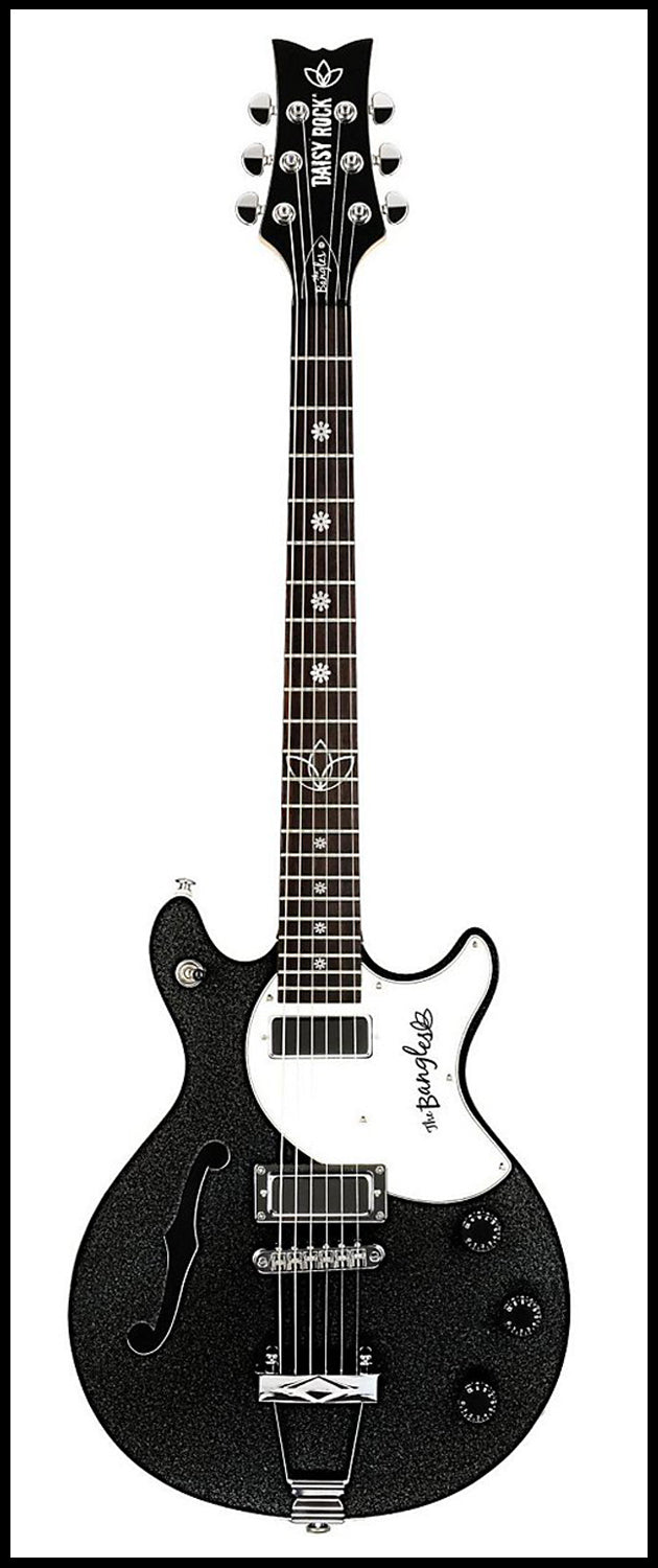 Daisy Rock Bangles Signature Model Guitar, Metallic Black