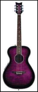 Daisy Rock 6 String Acoustic-Electric Guitar, Plum Purple Burst