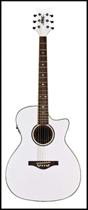 Daisy Rock Wildwood A/E Guitar, Pearl White