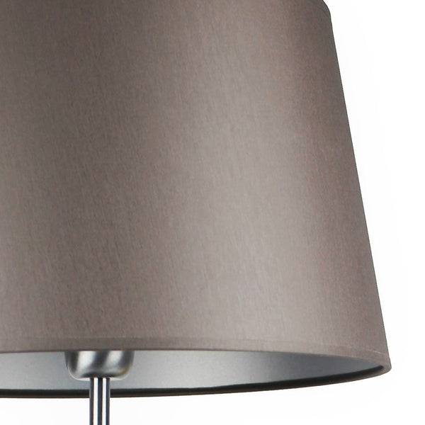 DARK GRAY FABRIC LAMPSHADE / SILVER INSIDE 33/27/20 CM