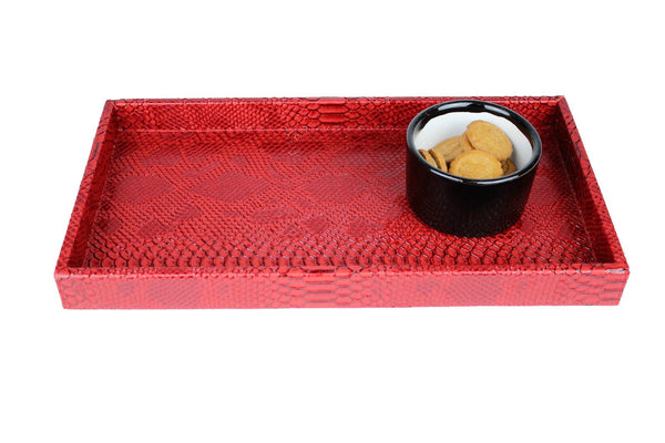 REPTILE RED RECTANGULAR TRAY