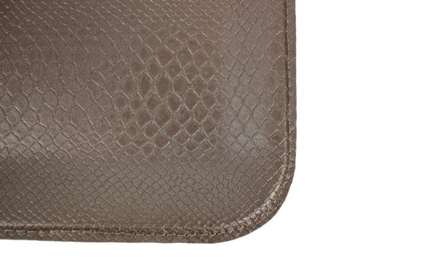 L REPTILE PRINT TAUPE FLAT TRAY