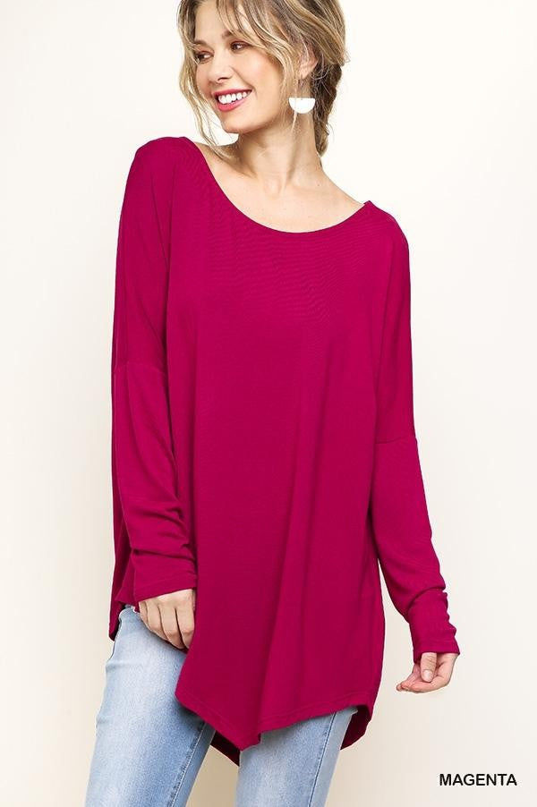 Color Me Beautiful Asymmetrical Top