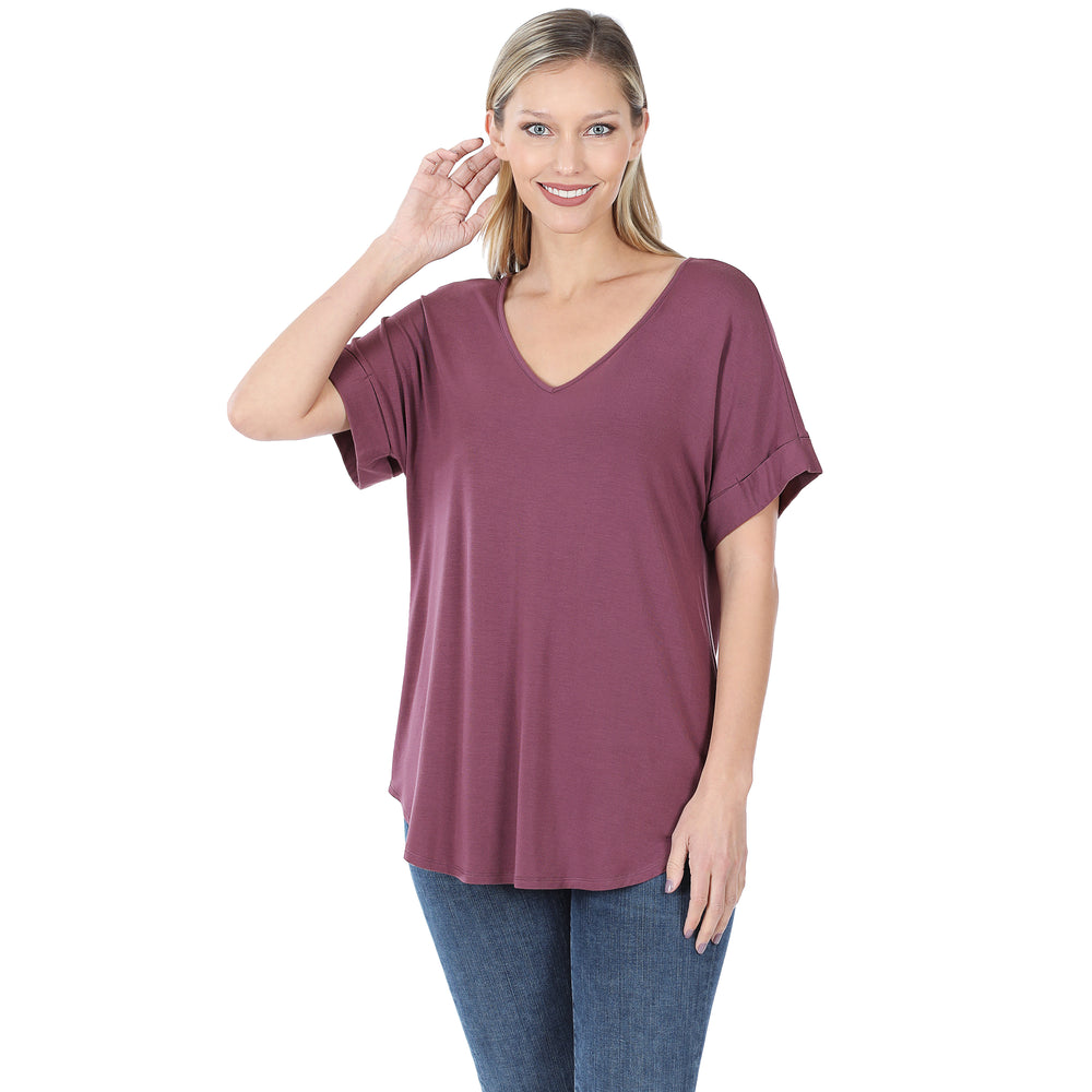B+B Cuff Sleeve Tee {Multiple Colors} Z