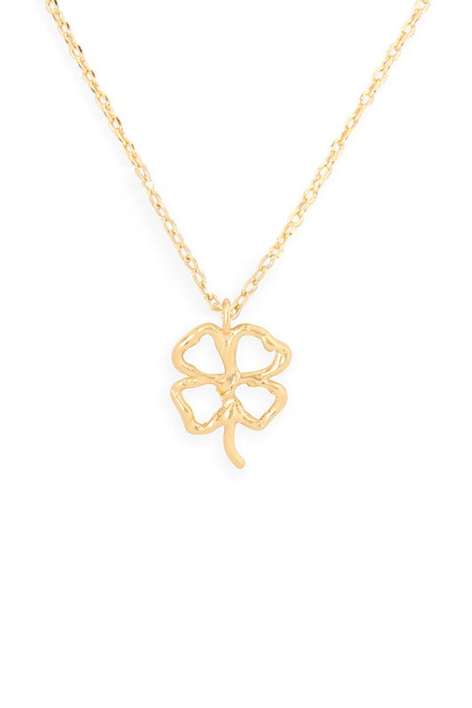Lucky Charm Pendant Clover Necklace {Two Colors!}