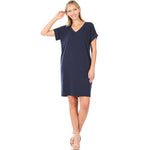 B+B Class Act T-Shirt Dress {Multiple Colors}