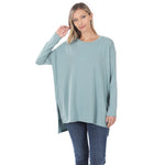Always On The Go Long Sleeve Tunic {Blue Gray} Z