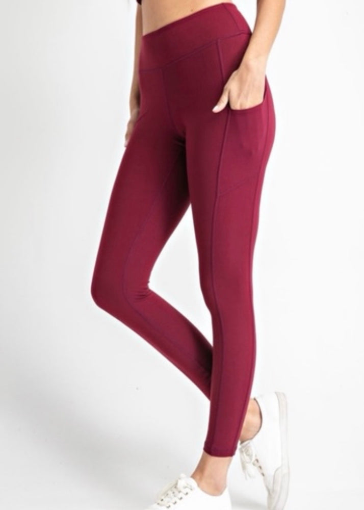 B&B Classic Leggings {Burgundy}