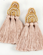 Beaded Bliss Earrings Taupe