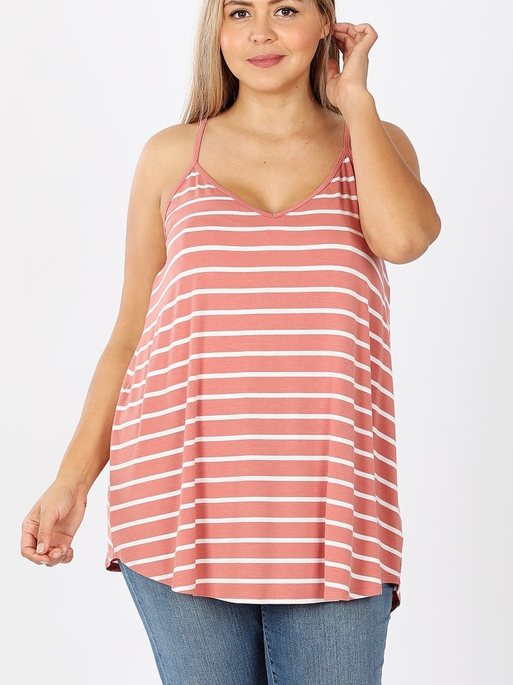 B+B Reversible Cami (Ash Rose Stripe)