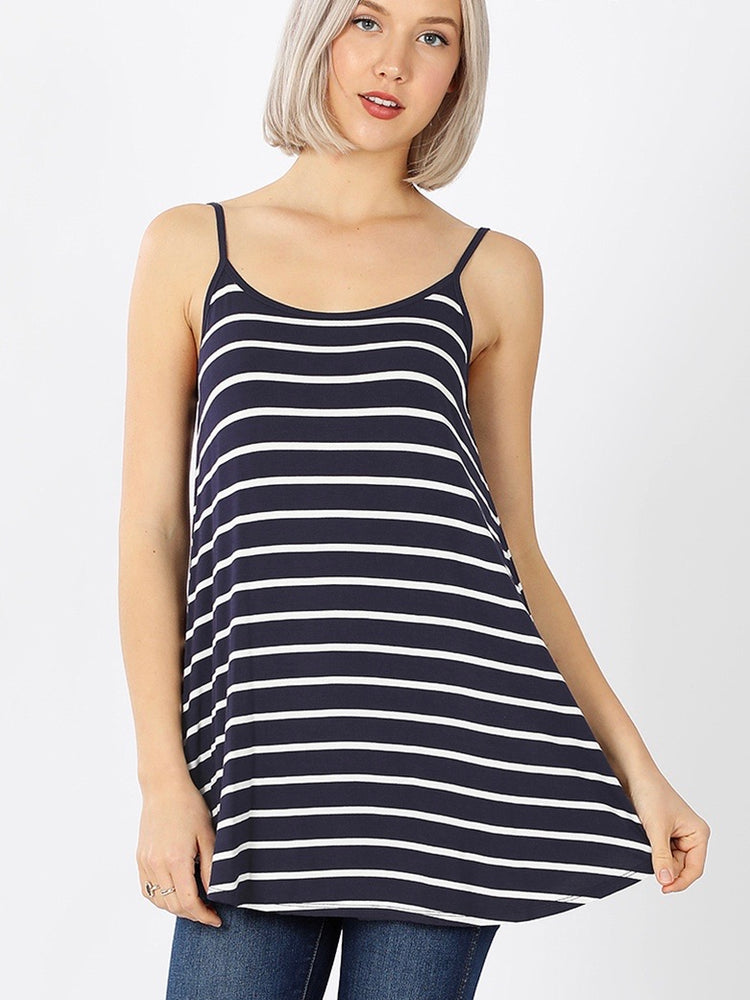 B+B Reversible Cami (Navy Stripe)