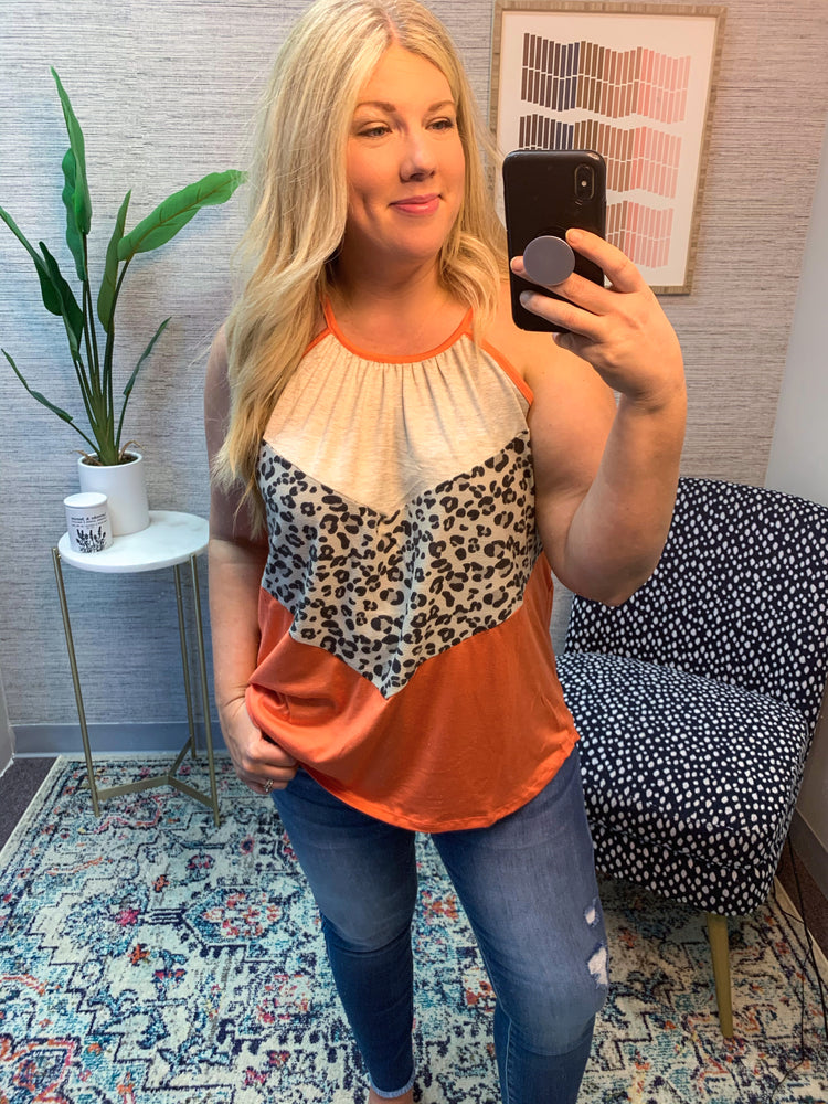 Sunset Skies Color Block Top