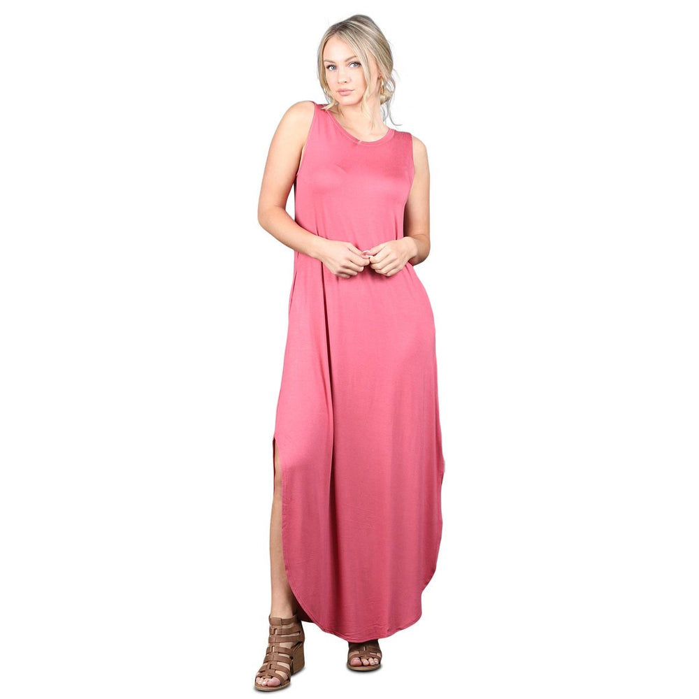 B&B Sleeveless Round Hem Maxi (Ash Rose)