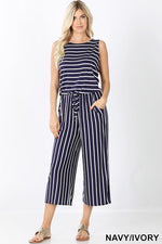 Navy + Ivory Jumpsuit