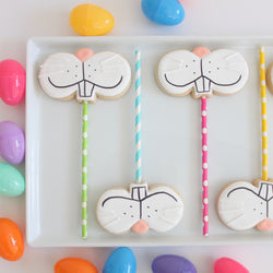 How to make Bunny Face Cookie Pops