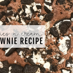 Cookies N Cream Brownie Recipe