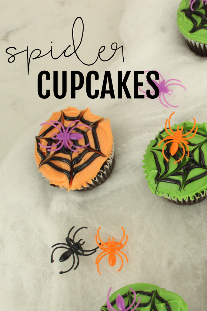 enjoy your spider web cupcakes