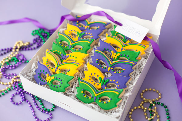 MARDI GRAS MASK Cookie Box