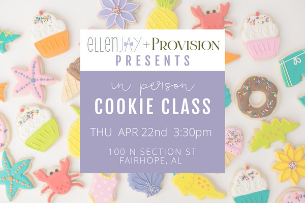 SPRING COOKIE CLASS (in person) - THU, APR 22 3:30 PM CST
