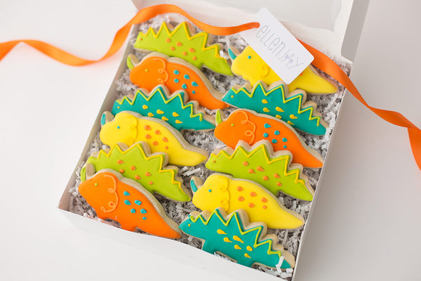 DINOSAUR Cookie Box (12 ct)