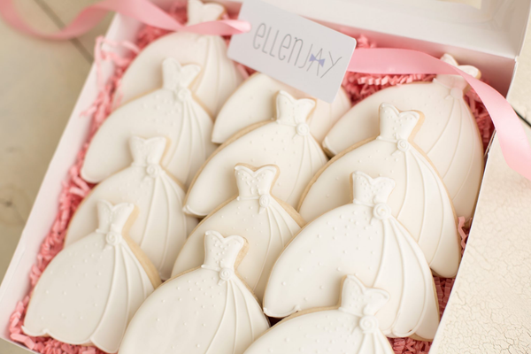 WEDDING DRESS Cookie Box (12 ct)