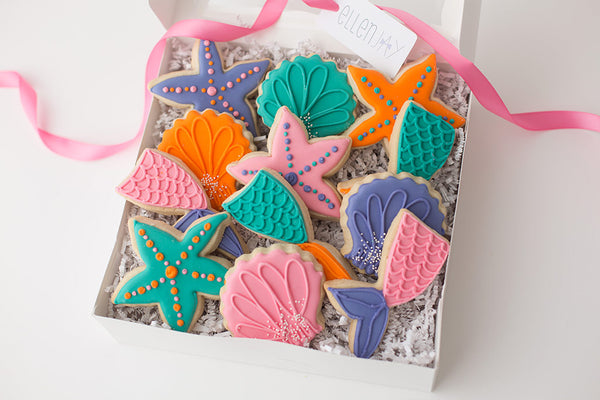 MERMAID Cookie Box (12 ct)