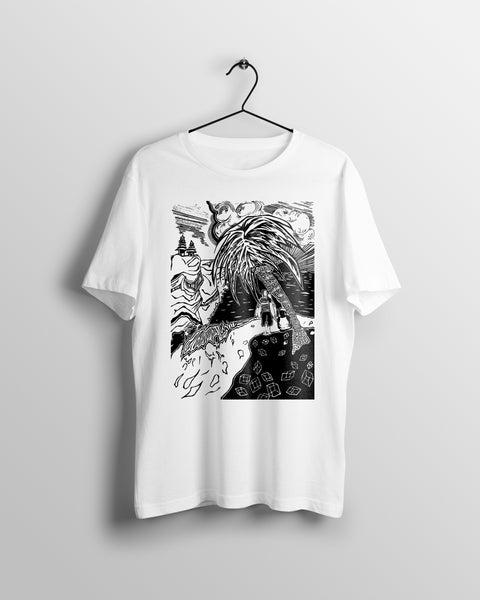 Dawn Patrol - (unisex t-shirt) white/grey