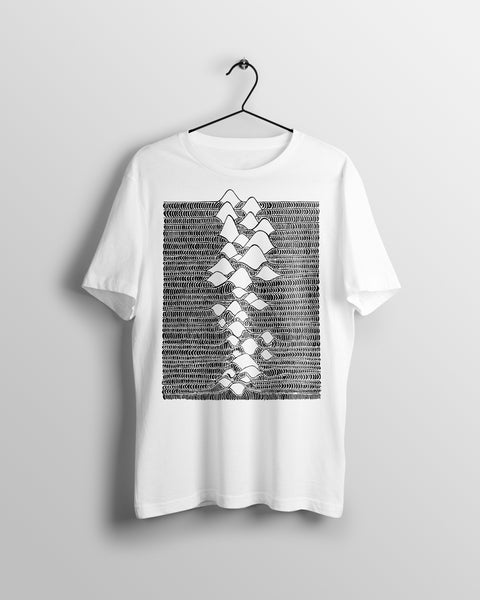 Known Pleasures - (unisex t-shirt) white/grey