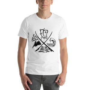 Sour Paradise Badge - (unisex t-shirt) - White/ Grey