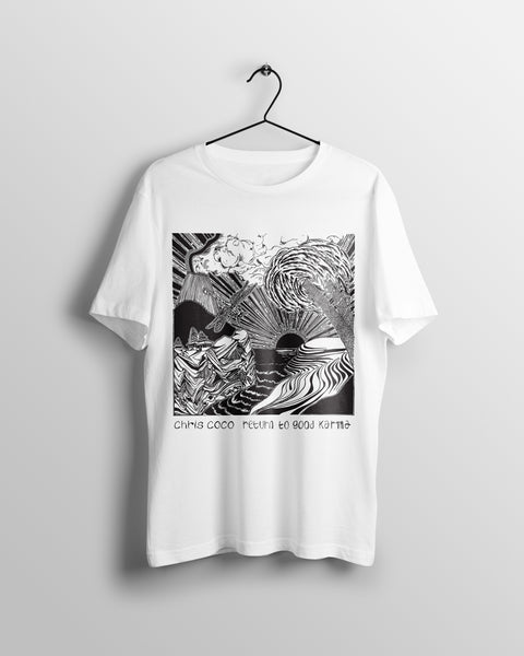 Return to Good Karma - (unisex t-shirt) white/grey