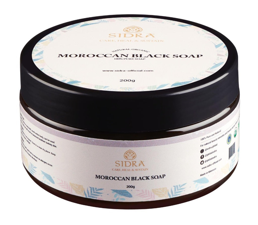 MOROCCAN AFRICAN BLACK SOAP WITH OLIVE OIL