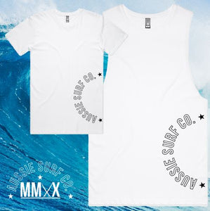 ASC MMXX Side Print White/Black Tee or Muscle