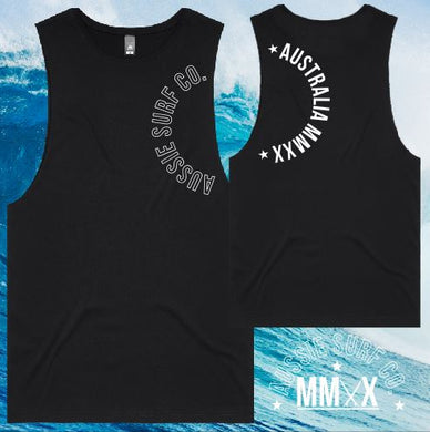 ASC MMXX Sleeve Print Black/White Tee or Muscle