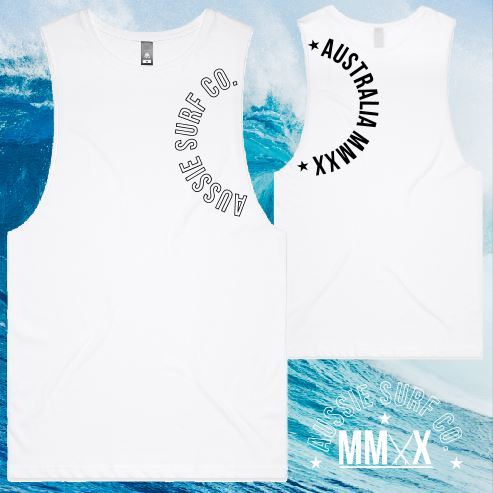 ASC MMXX Sleeve Print White/Black Tee or Muscle