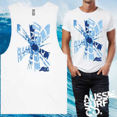 Blue Tie Dye Tee or Muscle