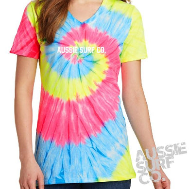 ASC Ladies Lt Multi Tie Dye - Tee or Cut Sleeve Adult