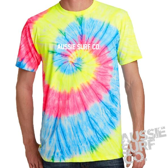 ASC Lt Rainbow Tie Dye - Tee or Cut Sleeve Adult