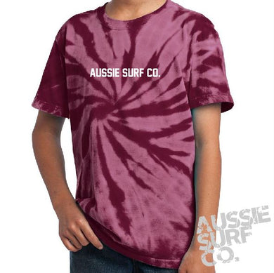 ASC Maroon Tie Dye - Tee or Cut Sleeve Kids