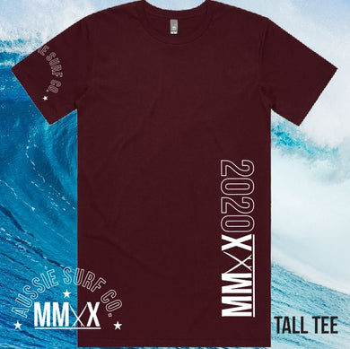 ASC MMXX TALL Tee Side/Sleeve Print Maroon